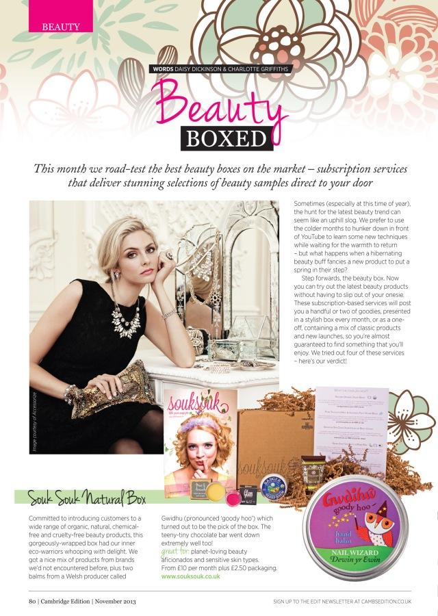 Beauty boxes Nov